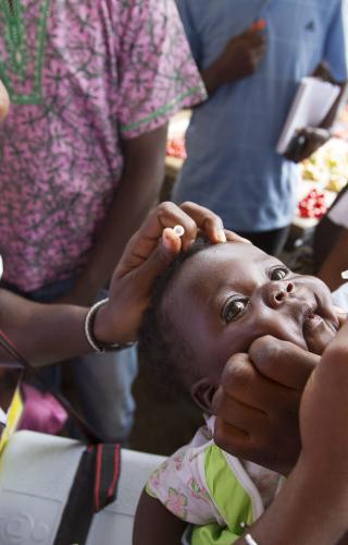 Administering Polio Vaccine