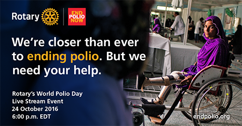 We're closer than ever to ending polio. But we can't do it without your help.